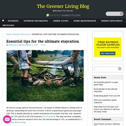 Essential tips for the ultimate staycation - The Greener Living Blog