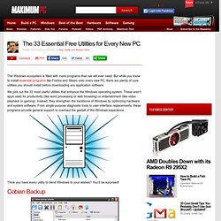 The 33 Essential Free Utilities for Every New PC