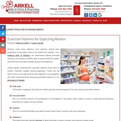 Essential Vitamins for Expecting Women