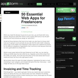 50 Essential Web Apps for Freelancers