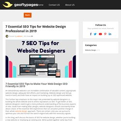 7 Essential SEO Tips for Website Design Professional in 2019