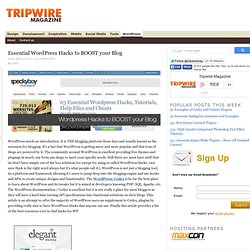Essential Wordpress Hacks to BOOST your Blog — tripwire magazine