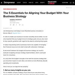 The 5 Essentials for Aligning Your Budget With Your Business Strategy