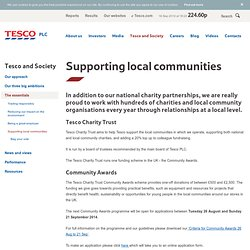 Tesco and Society - The essentials - Supporting local communities - Supporting local communities