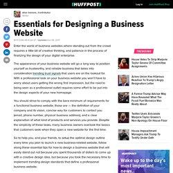 Essentials for Designing a Business Website