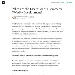 What are the Essentials of eCommerce Website Development?