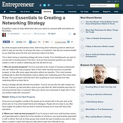 Three Essentials to Creating a Networking Strategy
