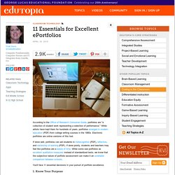 11 Essentials for Excellent ePortfolios