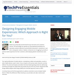 TechPro Essentials – Designing Engaging Mobile Experiences: Which Approach is Right for You?