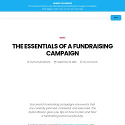 The Essentials of a Fundraising Campaign