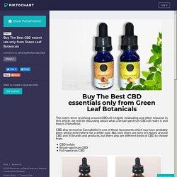 BuyThe Best CBD essentials only from Green Leaf Botanicals