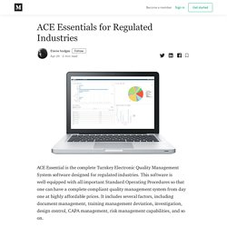 ACE Essentials for Regulated Industries
