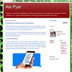 Ais Pyer: Essentials of a Modern-day Tracking App