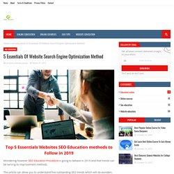 5 Essentials Of Website Search Engine Optimization Method