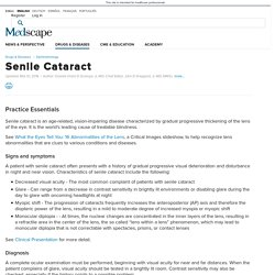 Senile Cataract: Practice Essentials, Background, Pathophysiology
