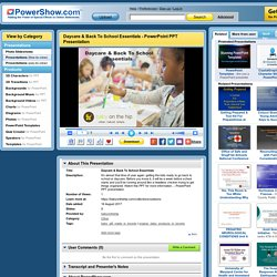 Daycare & Back To School Essentials PowerPoint presentation