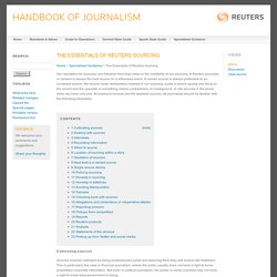 The Essentials of Reuters sourcing