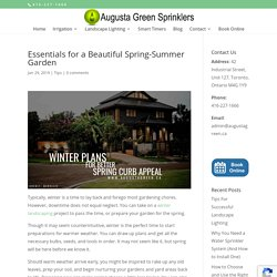 Essentials for a Beautiful Spring-Summer Garden