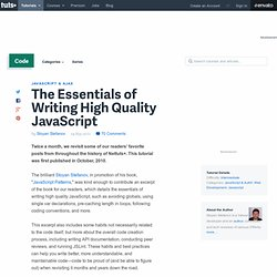 The Essentials of Writing High Quality JavaScript