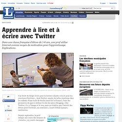 Aprendre à lire et à écrire avec Twitter