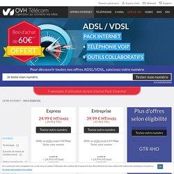 ADSL Essentiel : Offre ADSL pour entreprise - OVH TELECOM