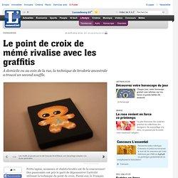 Le point de croix de mémé rivalise avec les graffitis - Tendances