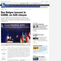 Des Belges lancent le G1000, un G20 citoyen