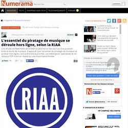 L'essentiel du piratage de musique se déroule hors ligne, selon la RIAA