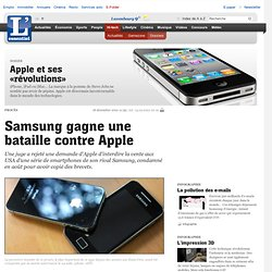 Samsung gagne une bataille contre Apple