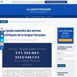 Le guide essentiel des termes techniques en français