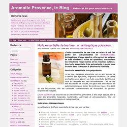 Huile essentielle de tea tree : un antiseptique polyvalent