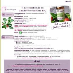 HE de Gaulthérie odorante BIO - Gaultheria fragrantissima