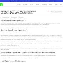 Manif pour tous : Essentiellement un mouvement contre quelque uns… - Psy Gay - Therapie LGBT - Nantes