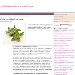 L'huile essentielle de marjolaine