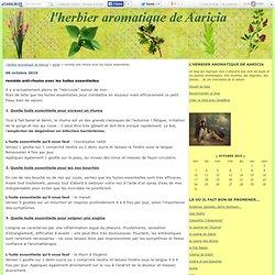 remède anti-rhume avec les huiles essentielles - l'herbier aromatique de Aaricia