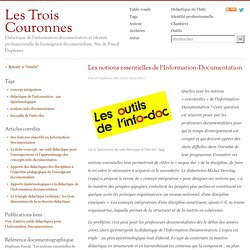 Les notions essentielles de l'Information-Documentation