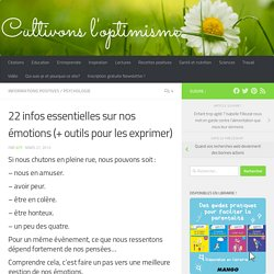 22 infos essentielles sur nos émotions (+ outils pour les exprimer)