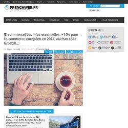 [E-commerce] Les infos essentielles: +14% pour l'e-commerce européen en 2014, Auchan cède Grosbill…