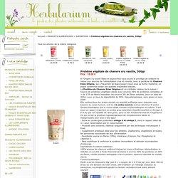 Protéine végétale de chanvre cru vanille, 500gr : vente de plantes médicinales et huiles essentielles bio, produits d'herboristerie, alimentation bio