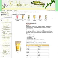 LUCUMA, poudre 250gr : vente de plantes médicinales et huiles essentielles bio, produits d'herboristerie, alimentation bio