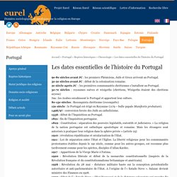 Les dates essentielles de l'histoire du Portugal - eurel