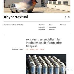 10 valeurs essentielles : les incohérences de l'entreprise française – #hypertextual