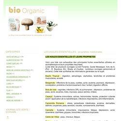 LES HUILES ESSENTIELLES : propriétés médicinales - bio organic