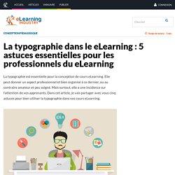 La typographie dans le eLearning : 5 astuces essentielles pour les professionnels du eLearning - eLearning Industry