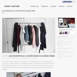 Les essentiels à avoir dans sa garde-robe - Sarah Couture
