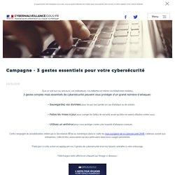 Campagne - 3 gestes essentiels pour votre cybersécurité