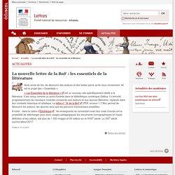 La nouvelle lettre de la BnF : les essentiels de la littérature-Lettres-Éduscol
