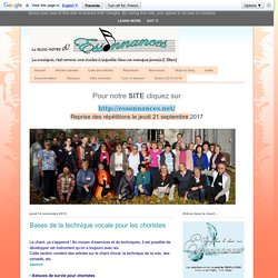 Le blog-notes d'Essonnances: Bases de la technique vocale pour les choristes
