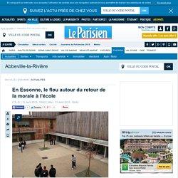 En Essonne, le flou autour du retour de la morale à l'école