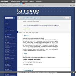 Essor et enjeux de l'histoire du temps présent au CNRS
